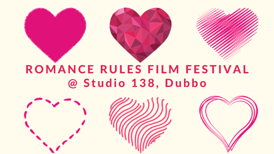 Six pink hearts and the heading Film Festival